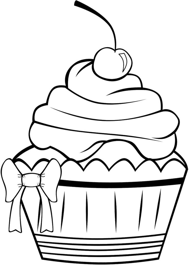 Colouring Pages For Cupcakes : Printable Cupcake Coloring Pages Coloring Me