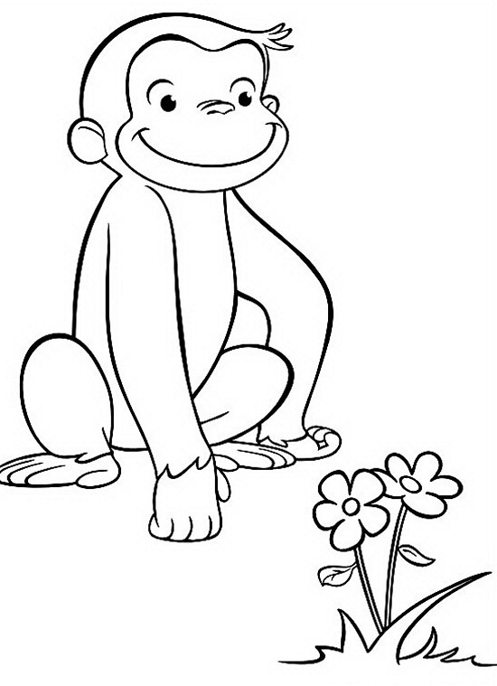 Printable Curious George Coloring Pages Coloringme Com