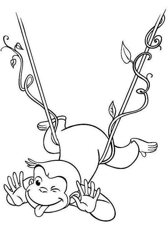 monkey george coloring pages - photo#33