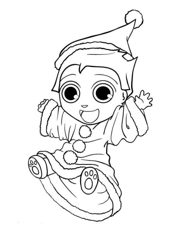 Cute Elf Coloring Pages Coloringme Com