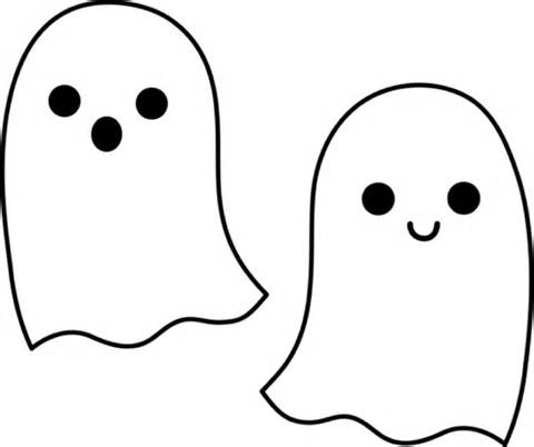 Printable Ghost Coloring Pages | Coloring Me