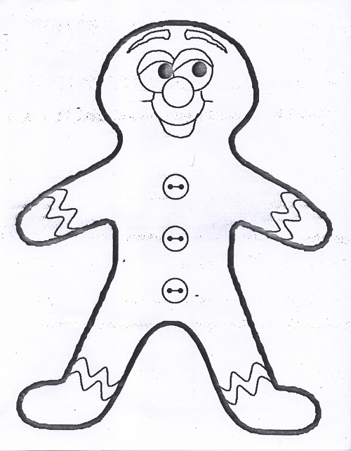 cute gingerbread man coloring page - Gingerbread Man Color Page