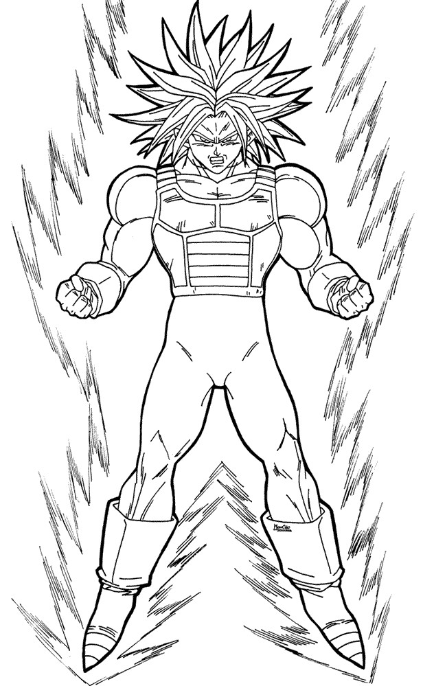 Dbz Vegeta Coloring Pages