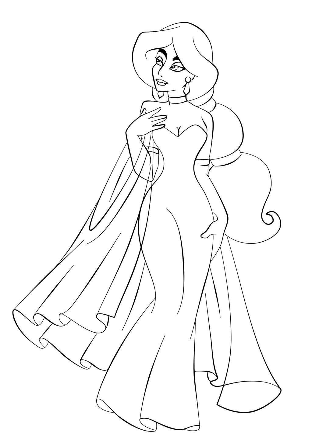 printable jasmine coloring pages me - Printable Coloring Pages Princess