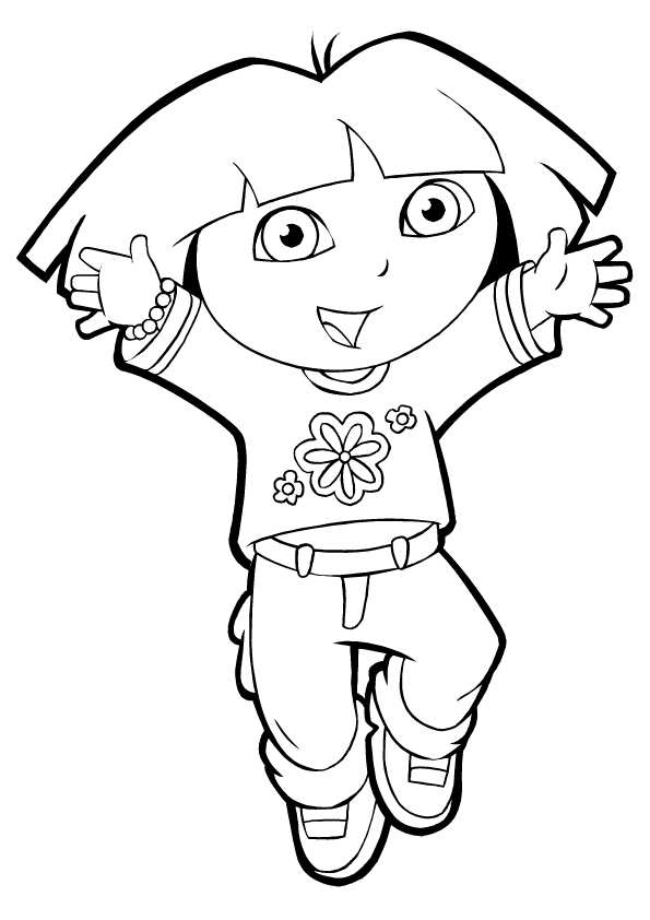 Printable Dora Coloring Pages  Coloring Me