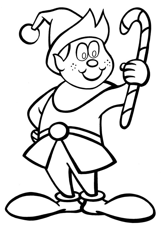elves coloring pages to printy - photo#25