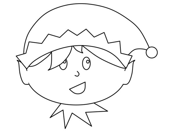 elf face coloring pages