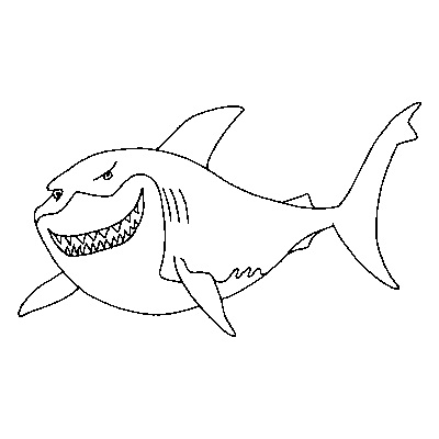 finding nemo bruce coloring pages - Finding Nemo Coloring Pages Bruce