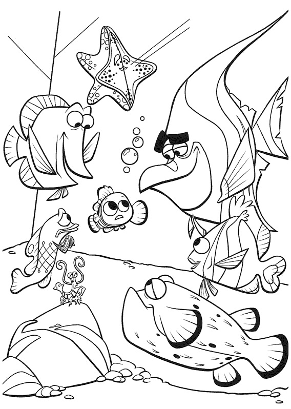 Printable Finding Nemo Coloring Pages Coloring Me