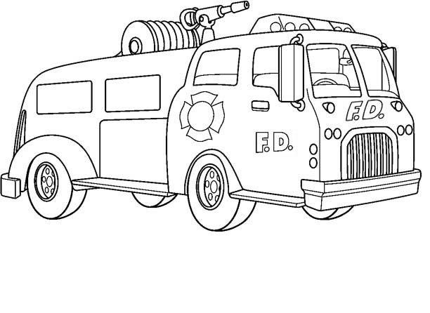 Printable Fire Truck Coloring Pages Coloring Me