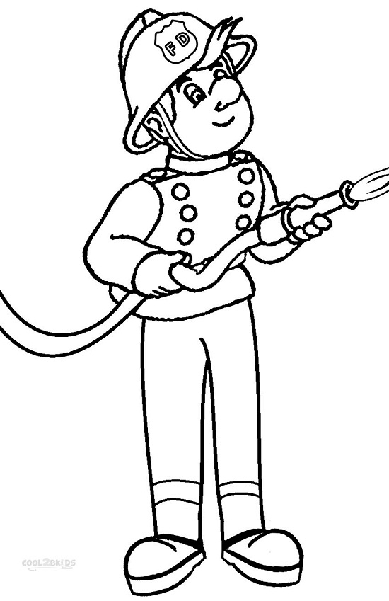 printable fireman coloring pages coloring me Firefighter Coloring Pages for Preschool  Coloring Firefighter