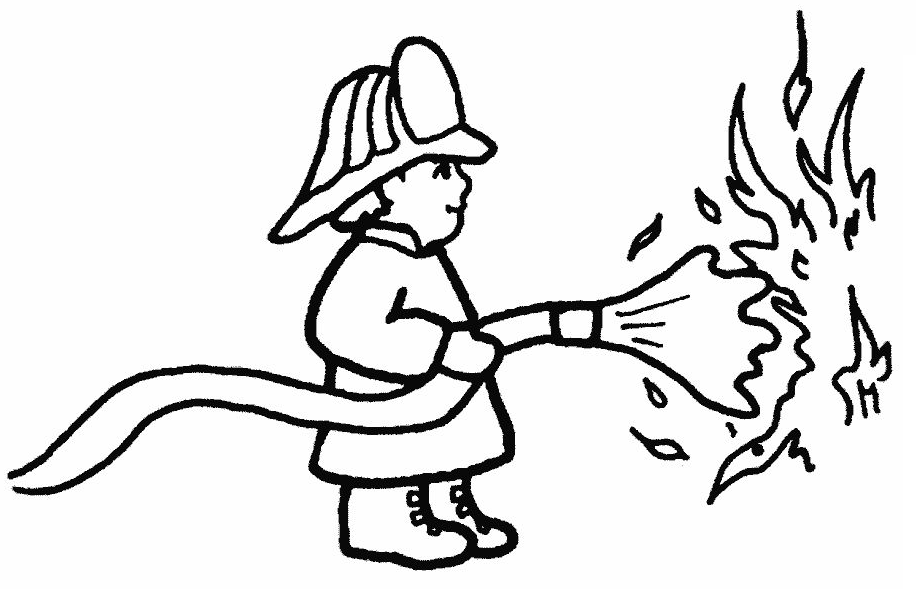 coloring book pages fireman hat - photo#22
