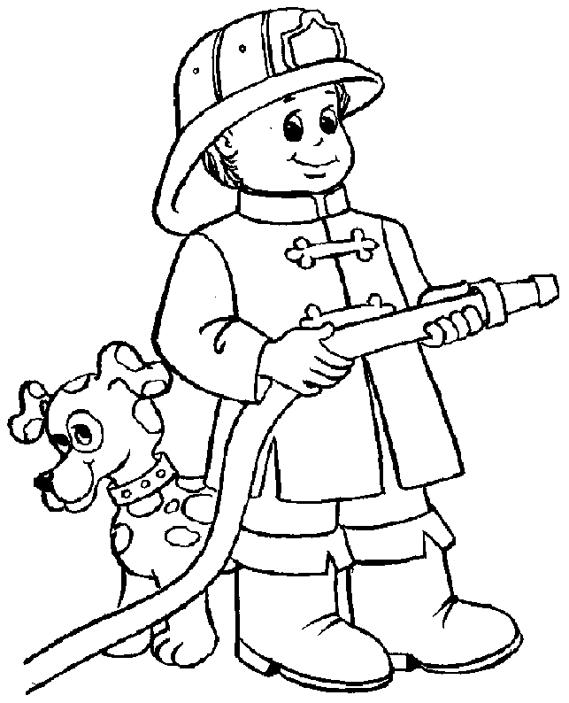 Printable Fireman Coloring Pages Coloring Me