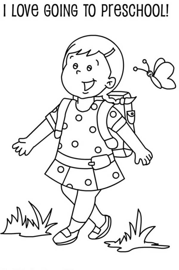school coloring pages for kindergarten - photo#15