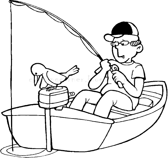 Coloring Pages Of Fishing Boats