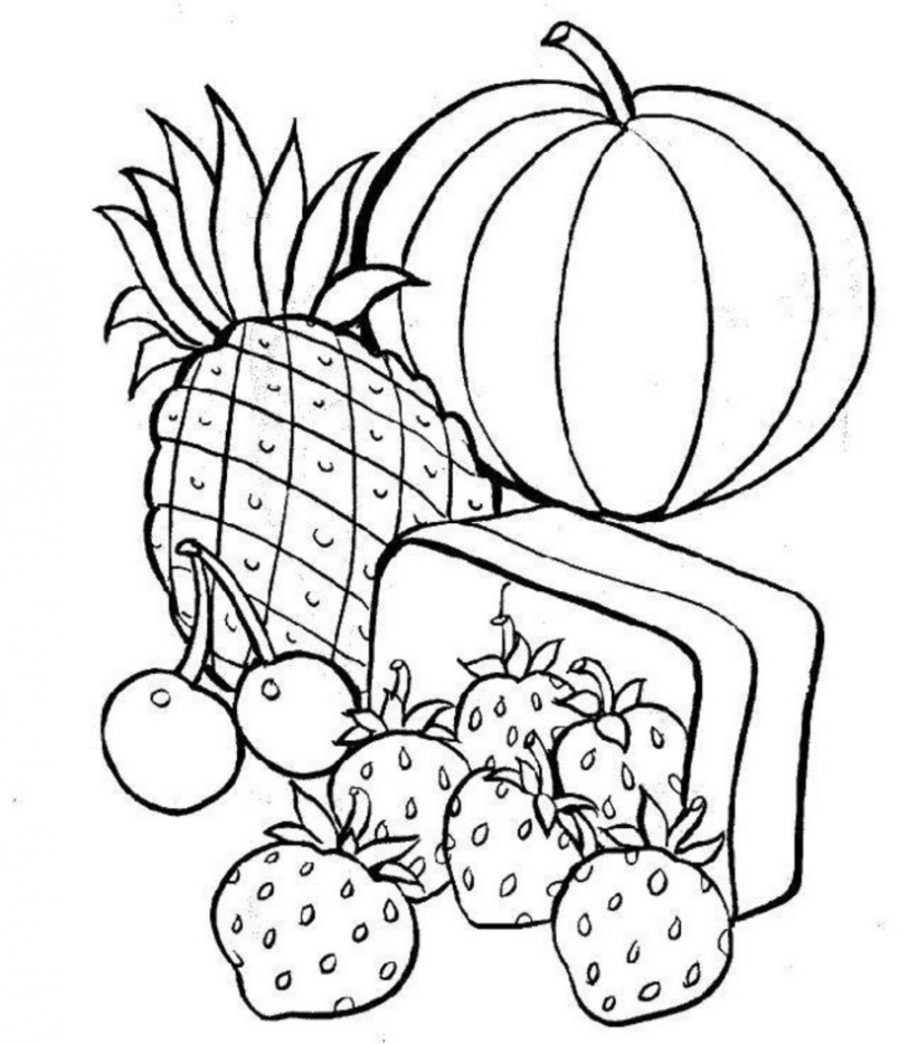 Printable Food Coloring Pages | Coloring Me