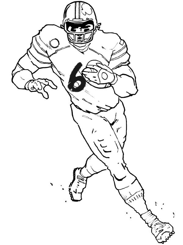 Printable Football Player Coloring Pages | Coloring Me
