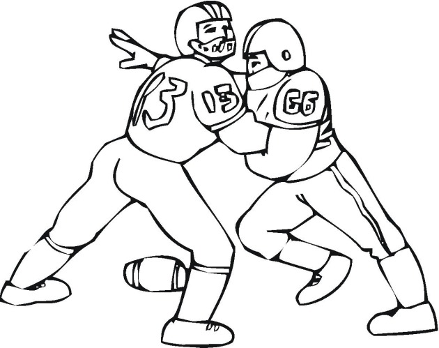 football player printable coloring pages - Football Printable Coloring Pages