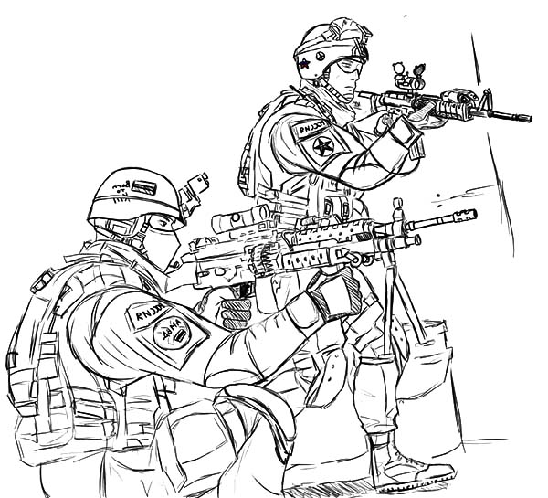 Printable Army Coloring Pages | Coloring Me