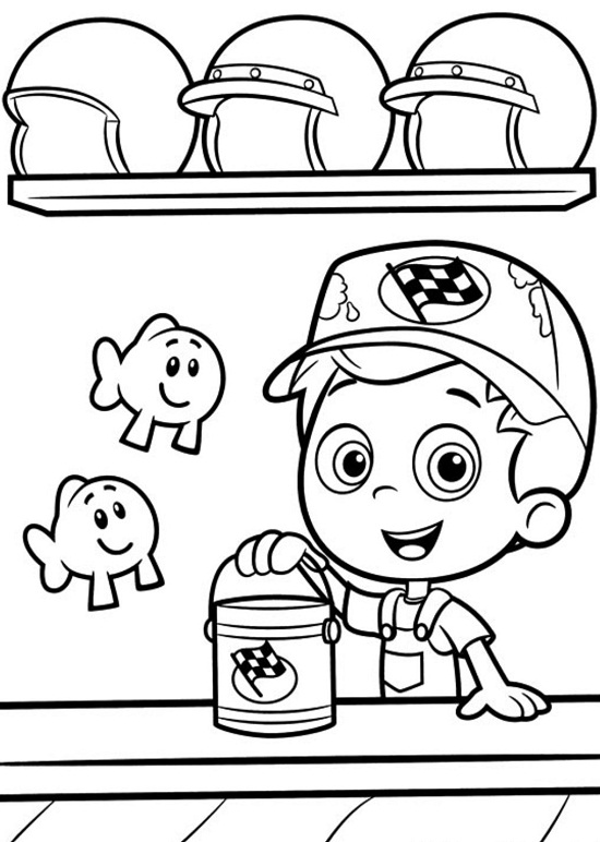 Printable Bubble Guppies Coloring Pages Coloring Me Free Guppies Coloring Pages