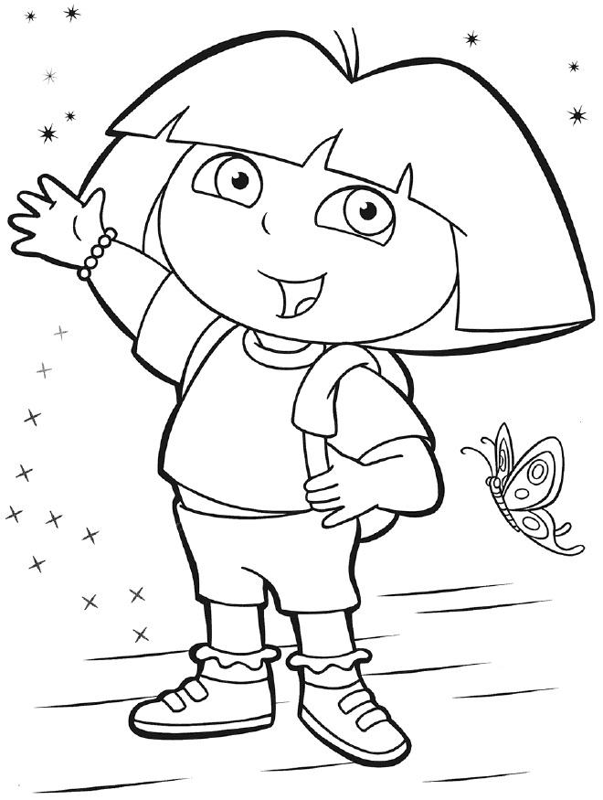 Dora Halloween Coloring Pages - GetColoringPages.com | 875x660