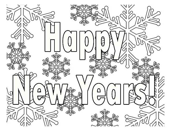 Free Happy New Year Colouring Pages for Kids | 500x650