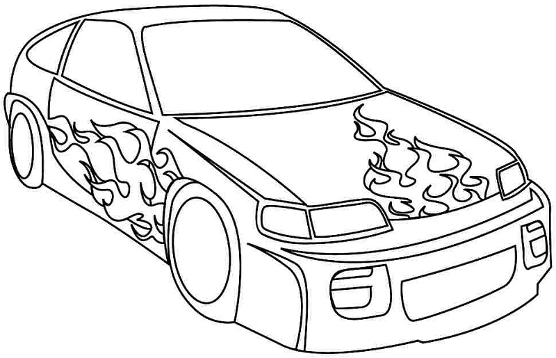race car coloring sheets - Car Coloring Page