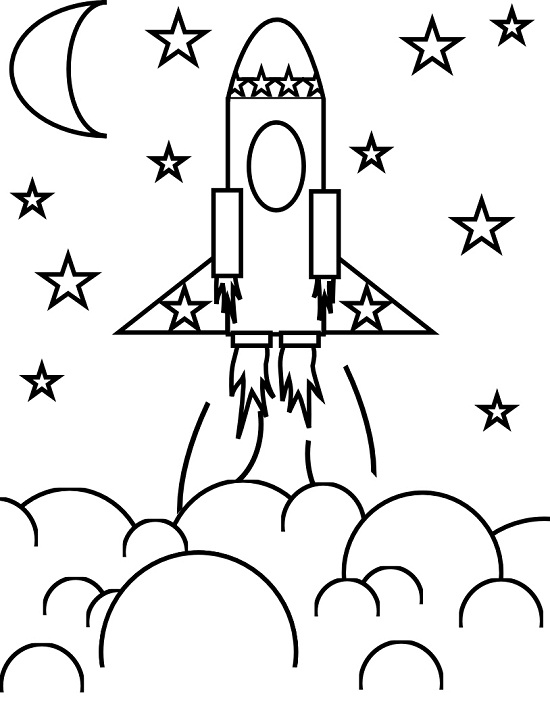photo about Rocket Ship Printable titled Printable Rocket Mail Coloring Web pages