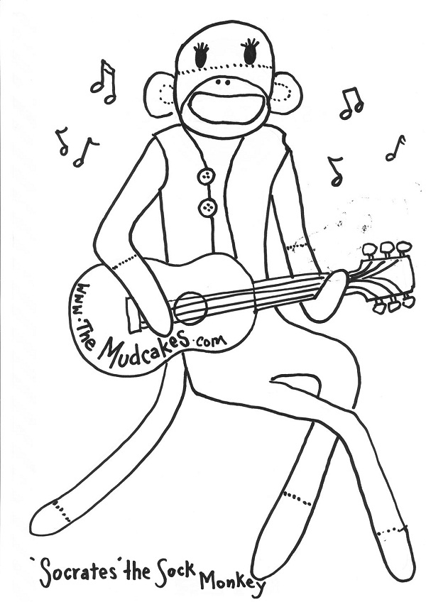 Free Printable Sock Monkey Coloring Pages