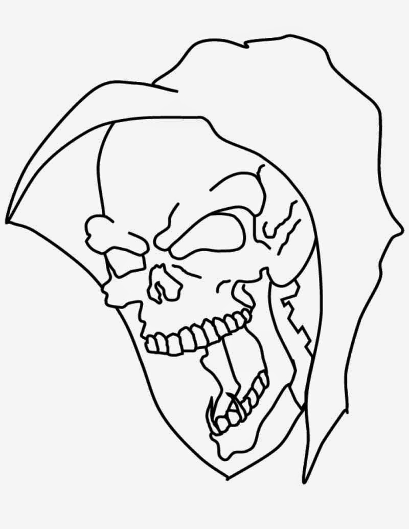Printable Skull Coloring Pages | Coloring Me