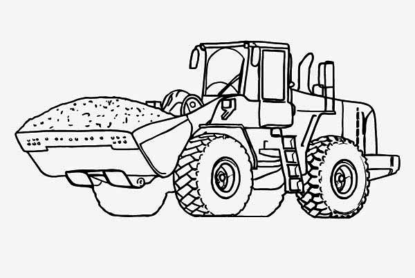 Printable Tractor Coloring Pages Me
