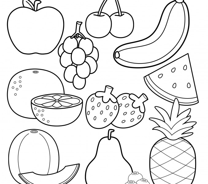 Printable Fruit Coloring Pages Coloring Me Fruits Coloring Pages