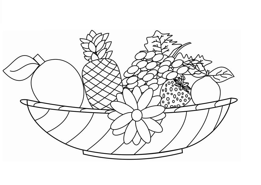 fruit coloring pages for toddlers - Fruit Coloring Pages Toddlers