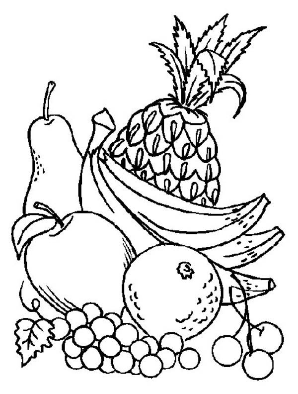 fruit coloring pages - fruit of the spirit coloring pages printable sketch