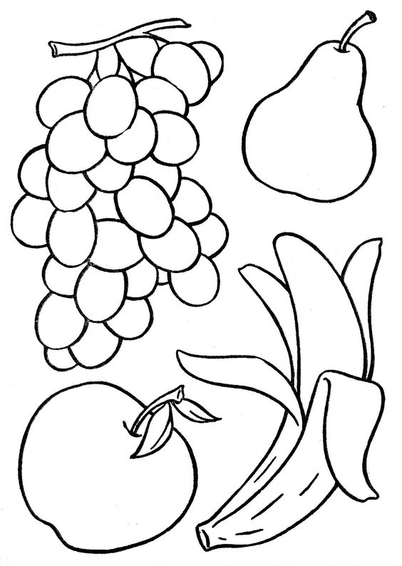 frutas coloring pages - photo#25