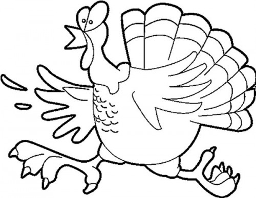 funny turkey coloring pages me