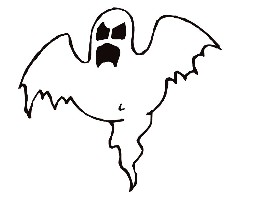ghost coloring pages printable