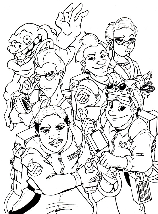 Free Ghostbusters Coloring Pages, Download Free Clip Art, Free ... | 747x550
