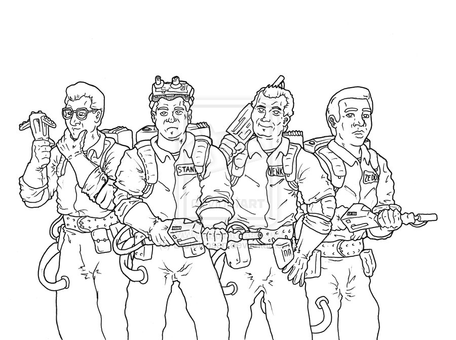 Printable Ghostbusters Coloring Pages Coloringme Com