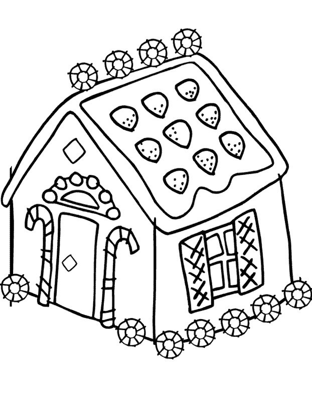 3d Gingerbread House Coloring Pages Coloring Pages