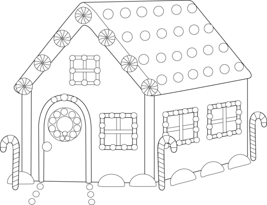 Gingerbread House Coloring Pages Pictures
