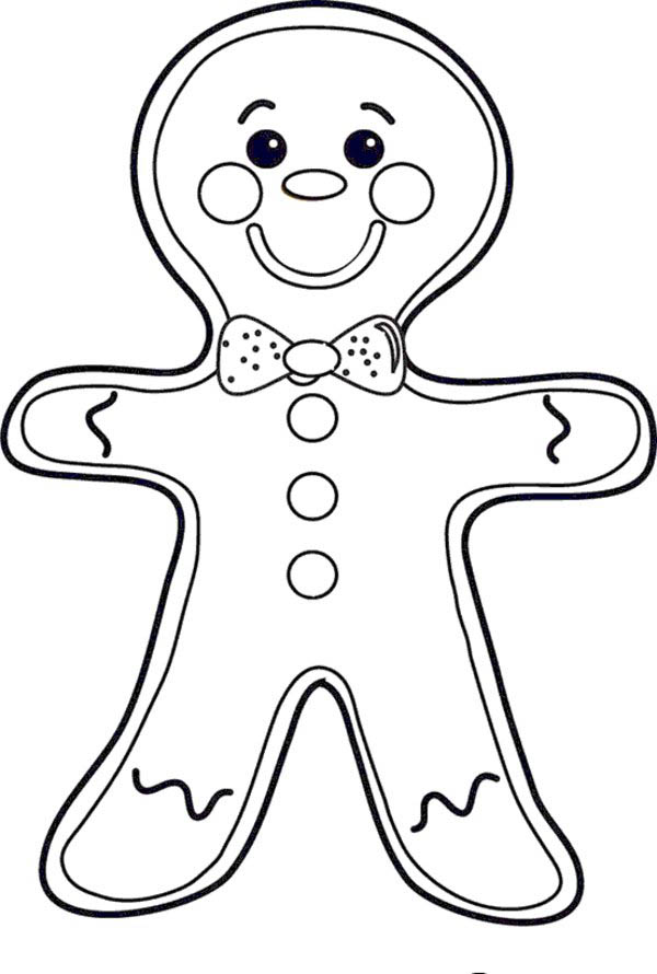 ginger man coloring pages - photo#17