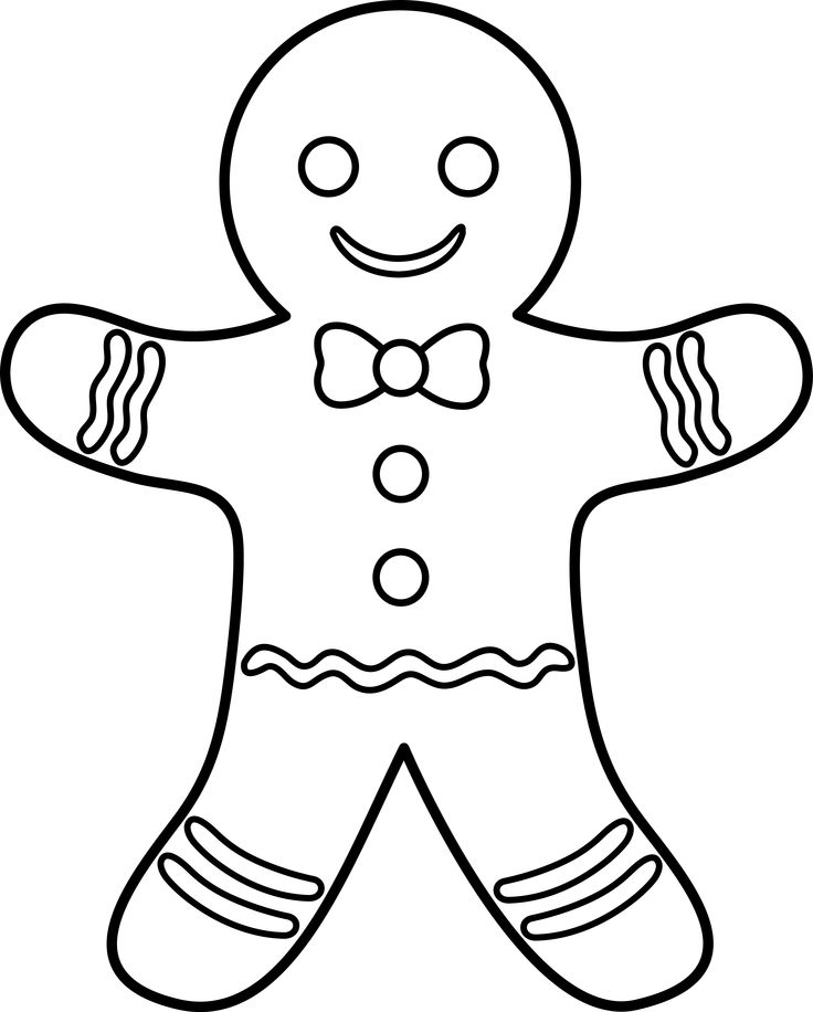 Printable Gingerbread Man Coloring Pages Coloring Me