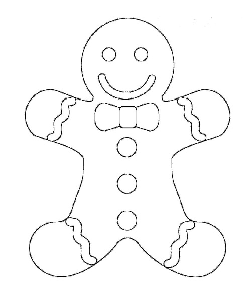 ginger man coloring pages - photo#25
