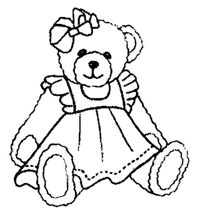 Girl Teddy Bear Coloring Pages | ColoringMe.com