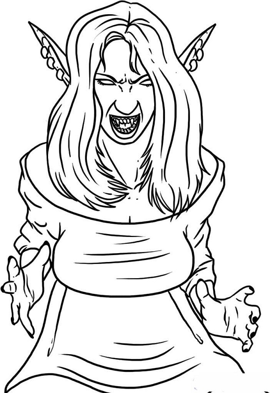 Printable Vampire Coloring Pages Coloring Me