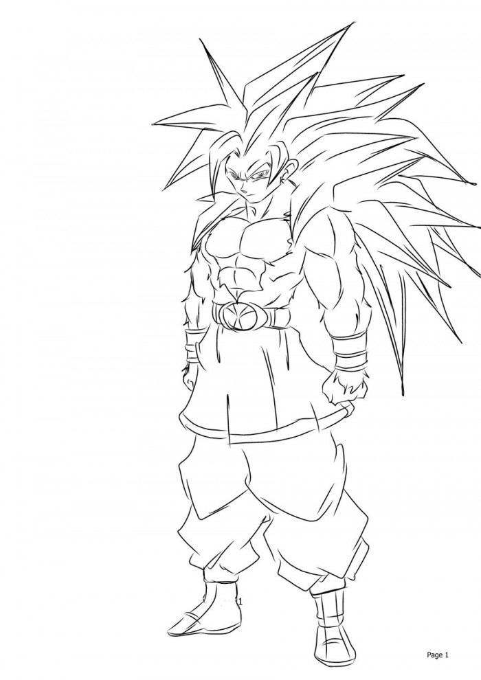 Printable Goku Coloring Pages Coloring Me