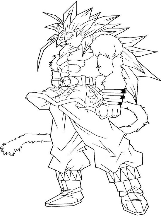 Printable Goku Coloring Pages | Coloring Me