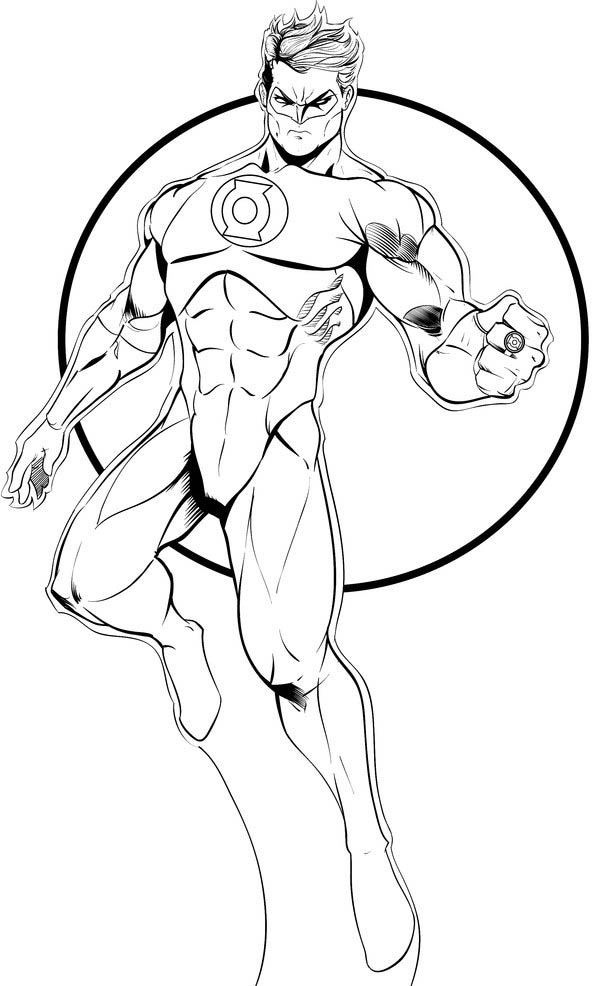 Printable Green Lantern Coloring Pages Coloring Me