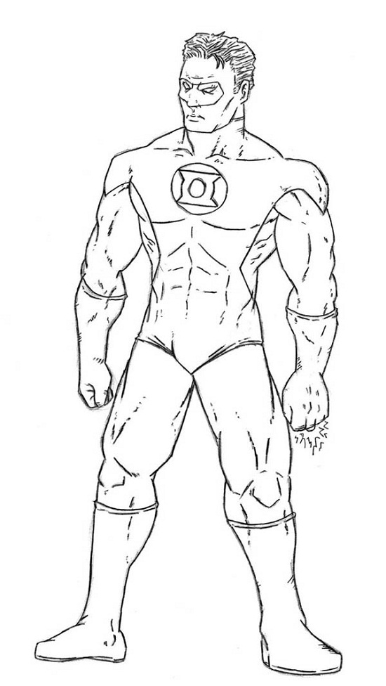 Printable Green Lantern Coloring Pages Coloring Me Green Lantern Coloring Page